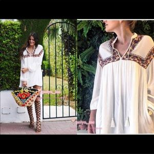 Zara Trafaluc Collection Boho Swing Dress
